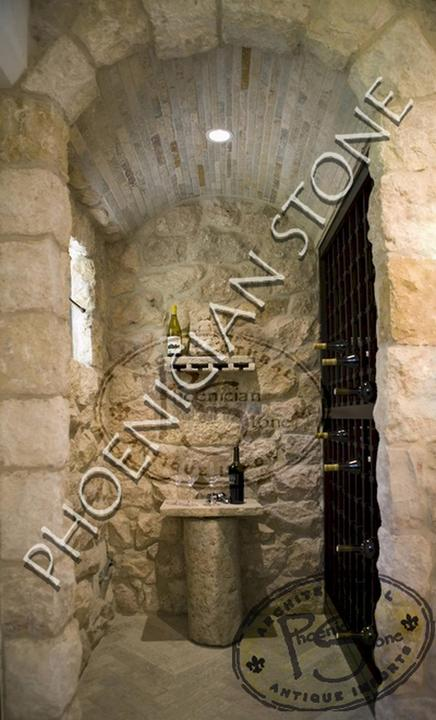 Wine Cellars Design By Phoenician Stone Wine Cellar Wall